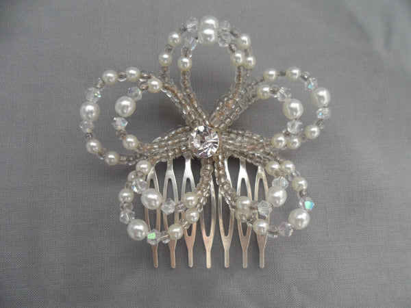 Ashleigh Double flower Hair comb