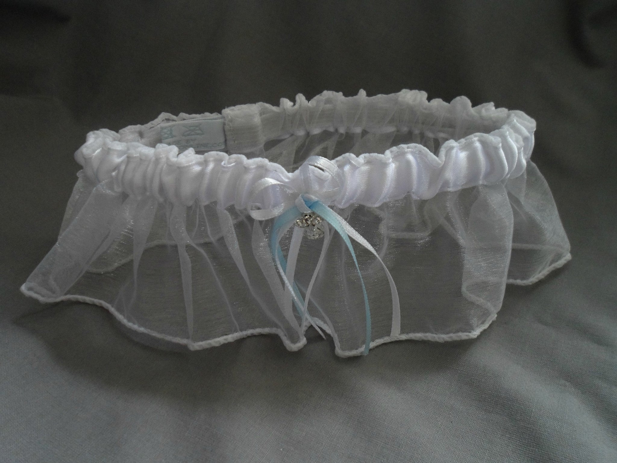 White Guardian angel wedding Garter