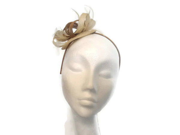 Gold and Ivory Disc Fascinator Ex sample