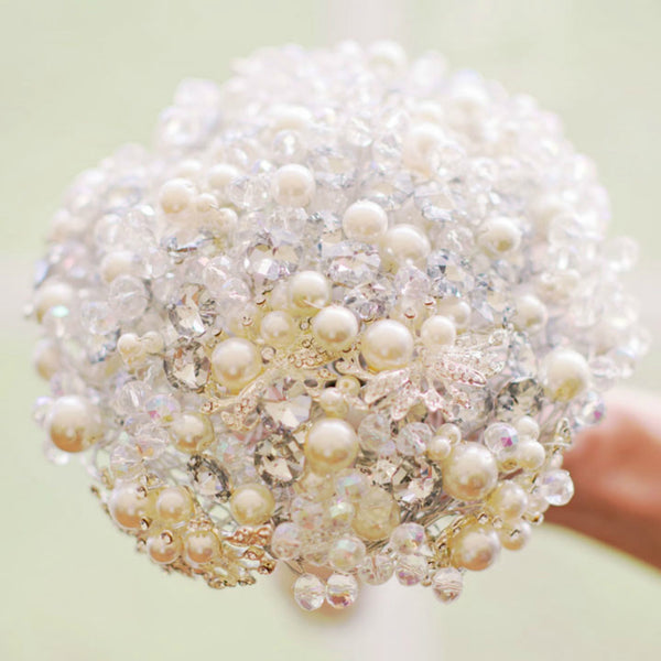 Custom beaded / brooch Round bouquet
