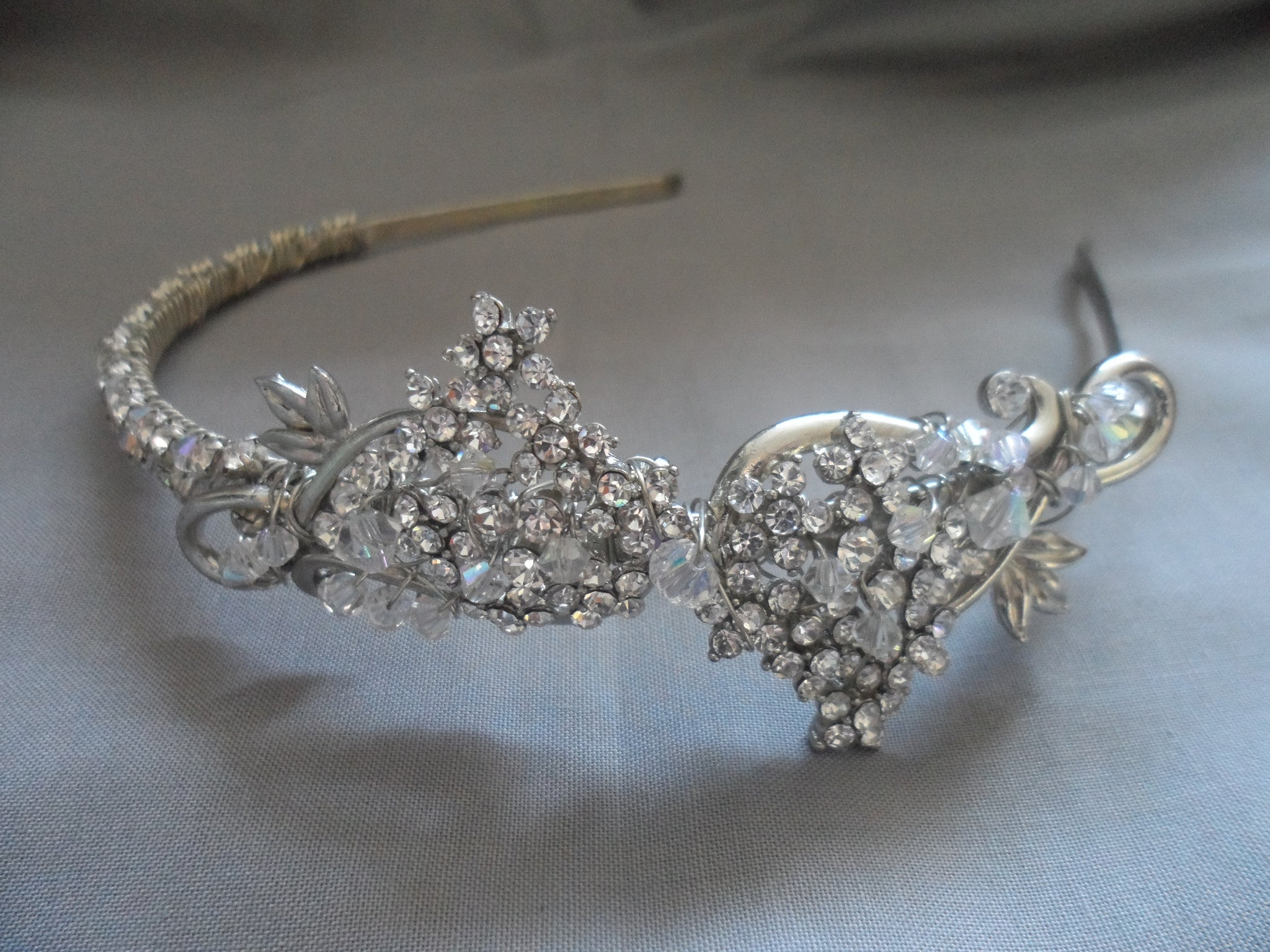 Vintage Rhinestone head band