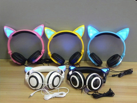 LED Flashing Hot Cat Ear Headphone 6 Colors