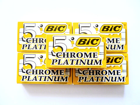 25 Bic chrome platinum double edge razor blades