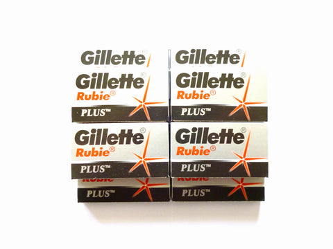 50 Gillette Rubie Plus double edge razor blades