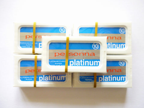 50 Personna Platinum chrome double edge razor blades