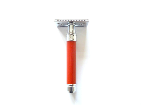 DE Safety Razor DE81 Red resin handle