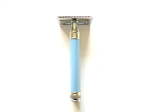 Edwin Jagger DE Safety razor DELBE extra long blue handle