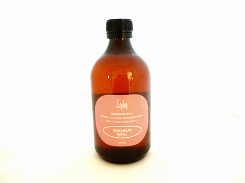 Geranium Liquid soap refill bottle 500ml