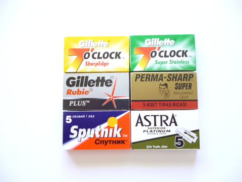 Gillette collection 30 double edge razor blades
