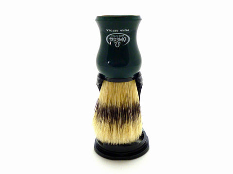 Omega 100% Pure Boar Bristle Shaving Brush With Stand