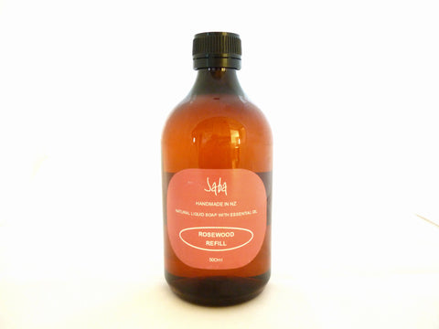 Rosewood Natural Liquid soap refill bottle 500ml