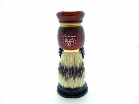 Omega 81151 100% Banded Boar bristle shaving brush and stand