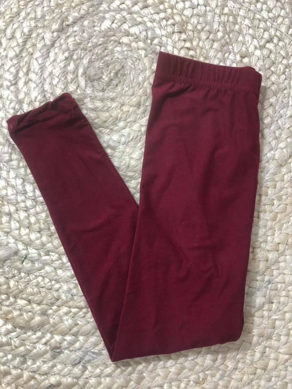 Legging- Burgundy