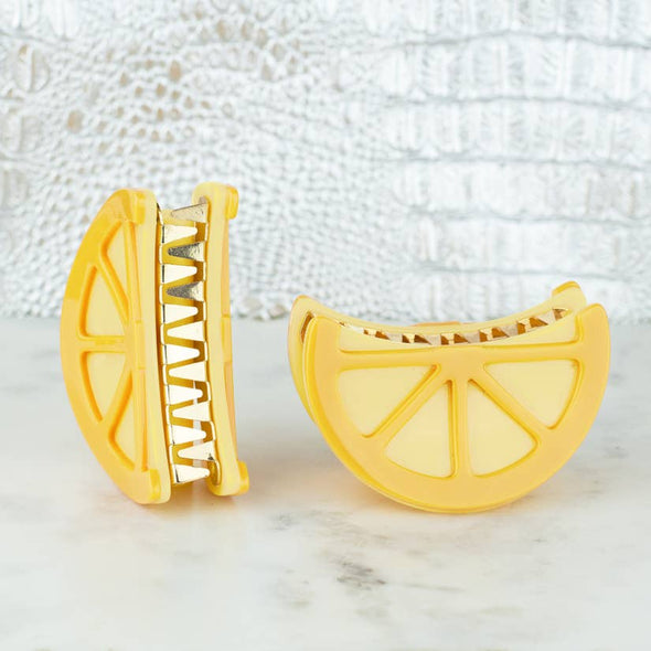 Lemon Hair Clips