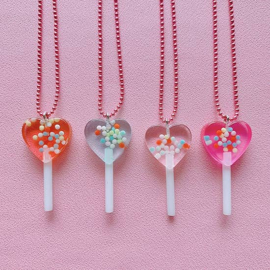 Sprinkle Lollipop Necklace