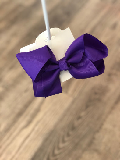 Purple 5-inch Bow