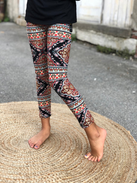 Legging-Black Pattern