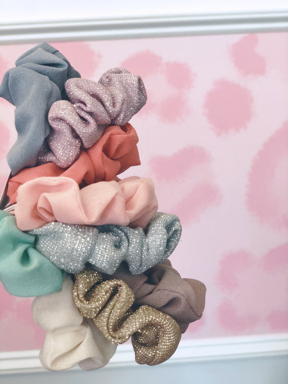 Glitter Scrunchie Set