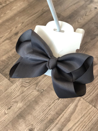 Dark Gray 5-inch Bow