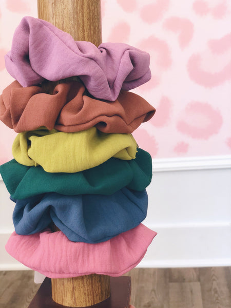 Solid Pastel Scrunchies