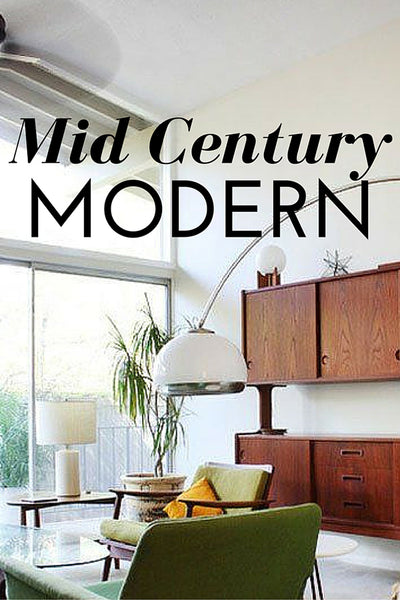 Mid Century Modern Decor, Decorating with plants