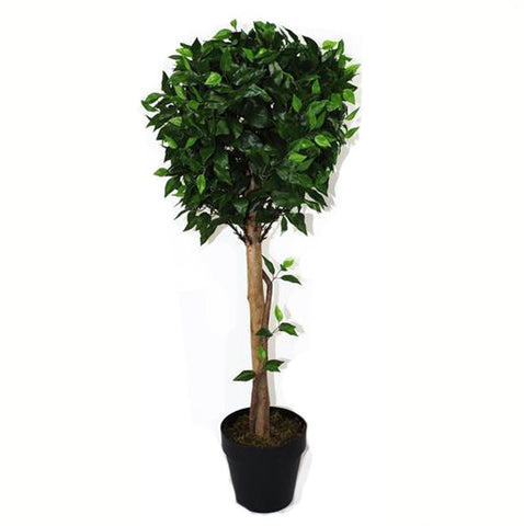 Artificial Ficus Ball Topiary Tree 105cm