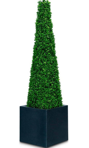 Deluxe Artificial boxwood topiary cone tree