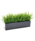Artificial Grass Bushes In Trough Planter / Window box