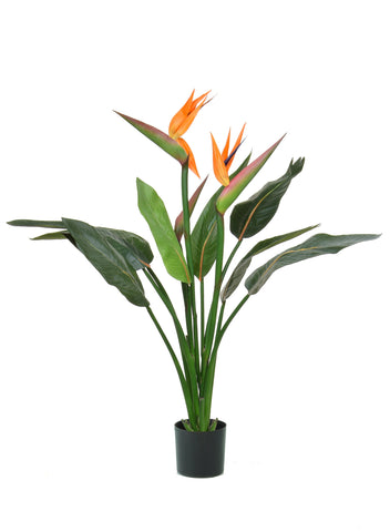 Artificial Bird of paradise strelitzia fire retardant