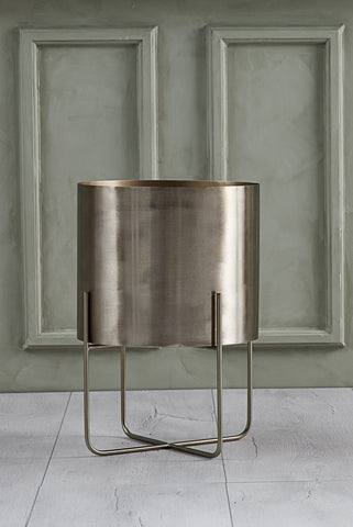 Aurine Light Pale Gold Planter On Legs
