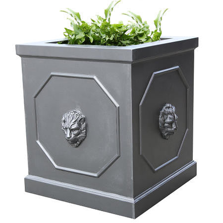 Berkeley Square Planter, Faux Lead Look