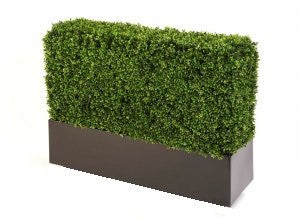 Artificial Boxwood Hedges In Trough Planters 1m length, 75cm length or 50cm length