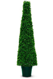 Deluxe artificial boxwood topiary cone obelisk