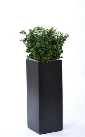 Outdoor Artificial Boxwood Shrubs In Tall Planter