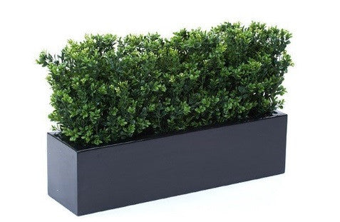 Artificial Boxwood Bushes In Windowbox Trough Planter