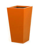 Orange tall planter. Colourful planters.