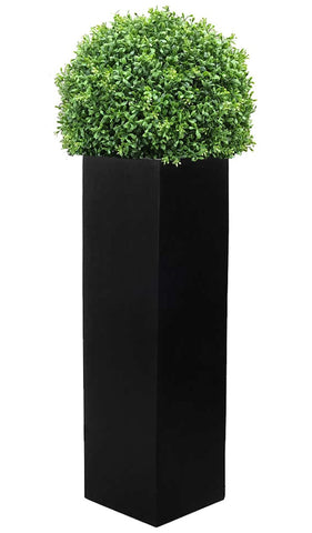 Large Artificial Boxwood Ball in 1m Tall Square Planter