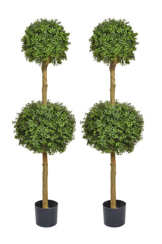 Artificial Outdoor Double Boxwood Ball Trees