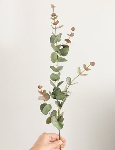 Faux Eucalyptus Stem by Artificial Green