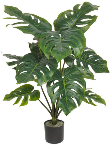 Fire retardant artificial monstera plant 80cm