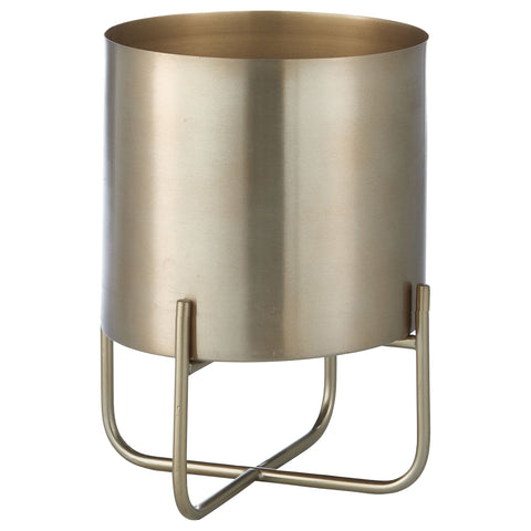 Aurine Light Gold Plant Pot On Stand