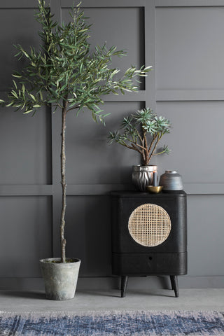 Luxury artificial olive tree in planter