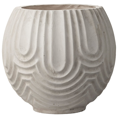 Decorative White Round Planter by Lene Bjerre Design