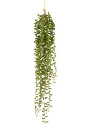Hanging artificial senecio string of pearls plant