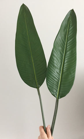 Fabulous Artificial Strelitzia Bird Of Paradise Leaf – Artificial Green YP39