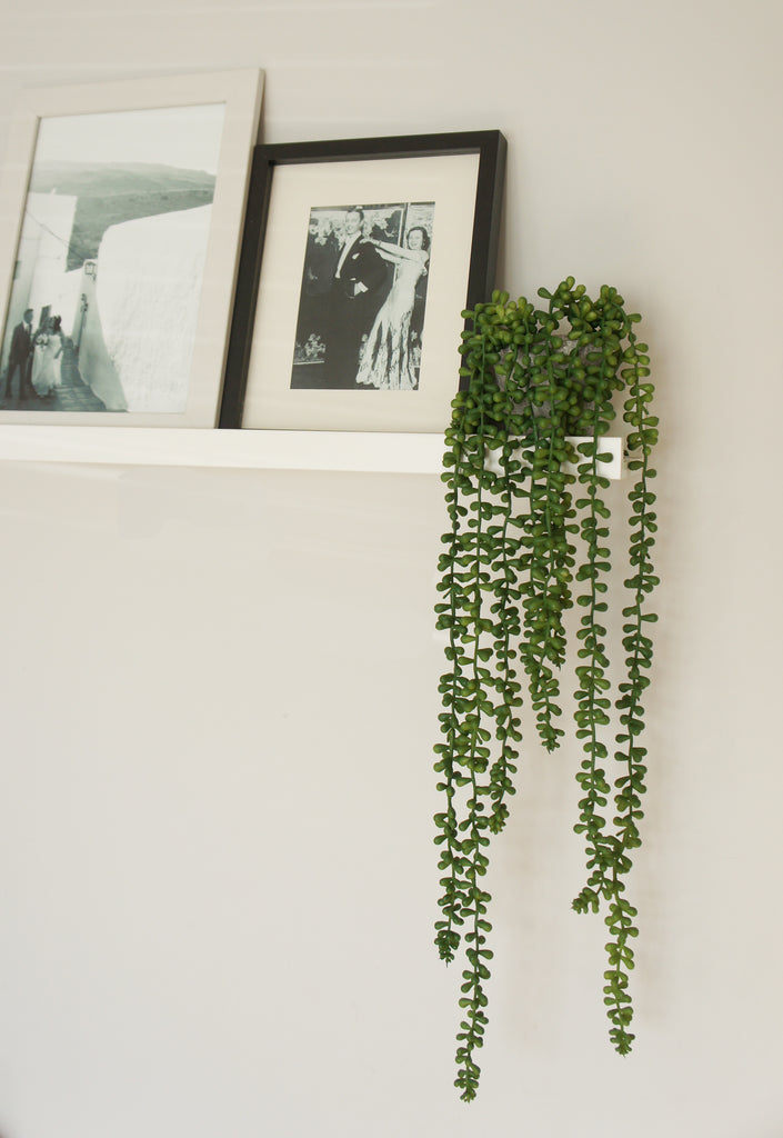 Faux Trailing String Of Pearls Plant 60cm Artificial Green