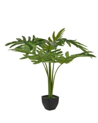 Artificial Split Leaf Philodendron Plant. Faux Tropical Plants.