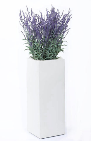 Artificial Lavender Arrangement In Tall Planter