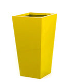 Yellow planters. Tall yellow planter from Artificial Green.