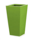 Bright green tall planter. Lime green large planters.